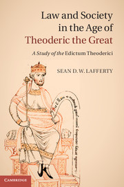 Sean Lafferty,Law and Society in the Age of Theoderic the Great