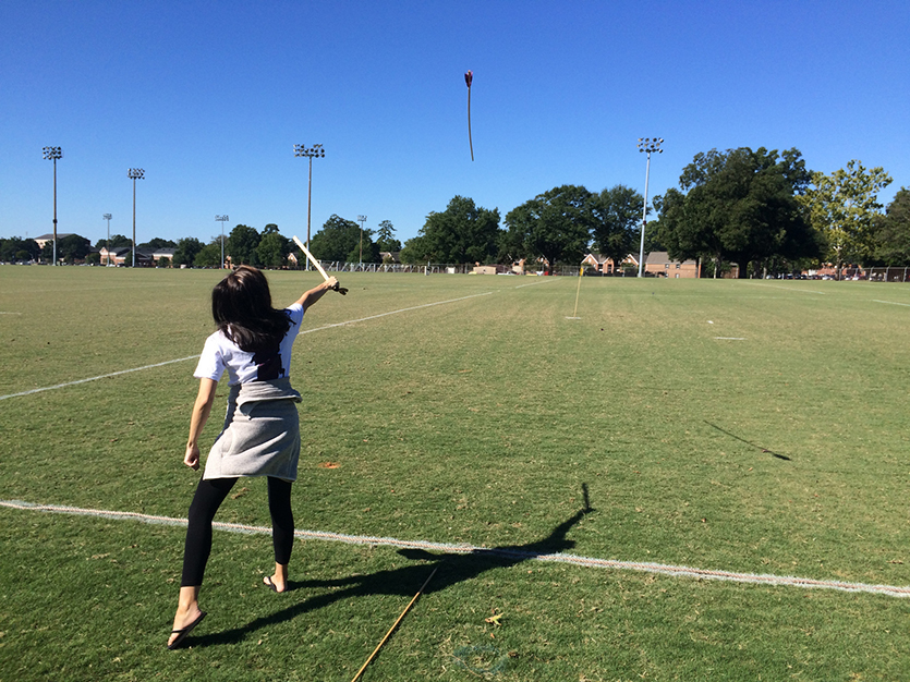 hy 111 students try their hands at the atlatl  a native