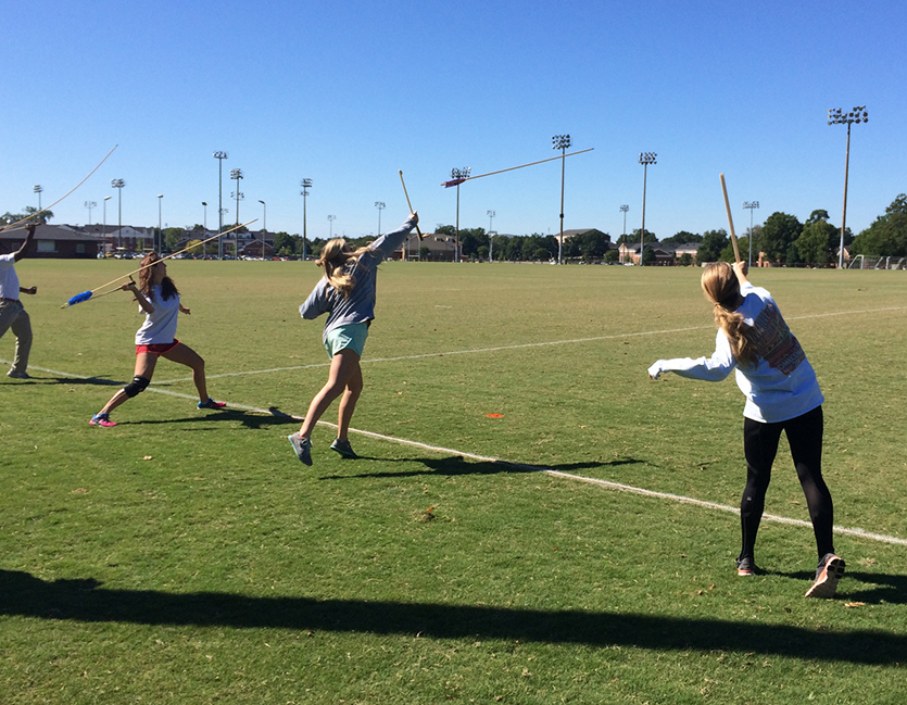 HY 111 Students Experiment with the atlatl