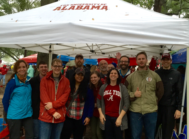 History Faculty Tailgating before the LSU game.