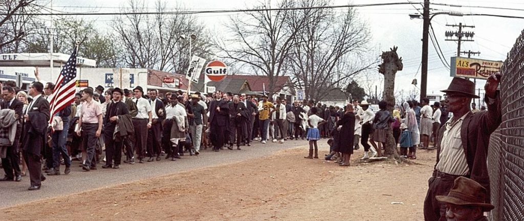 a civil rights protest