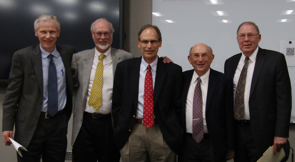 George Rable in center with friends and colleagues.