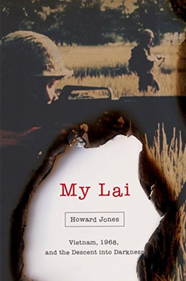 This image shows the dust cover to Jones's My Lai book.
