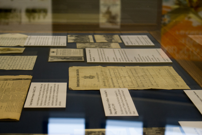 This image shows several items on display at the museum.
