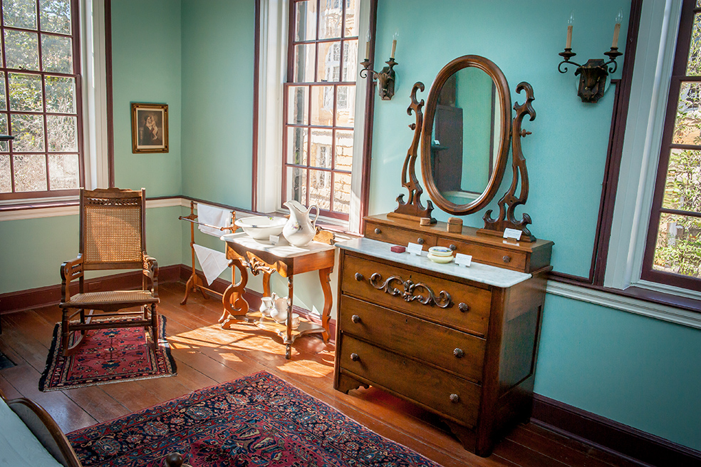 Image of furniture inside the Gorgas House.
