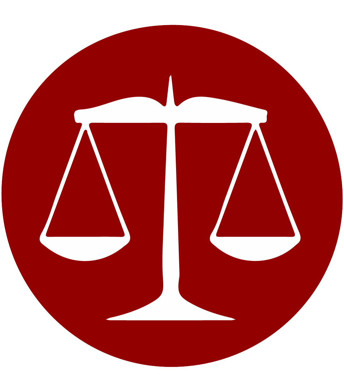 Legal history icon showing the scales of justice