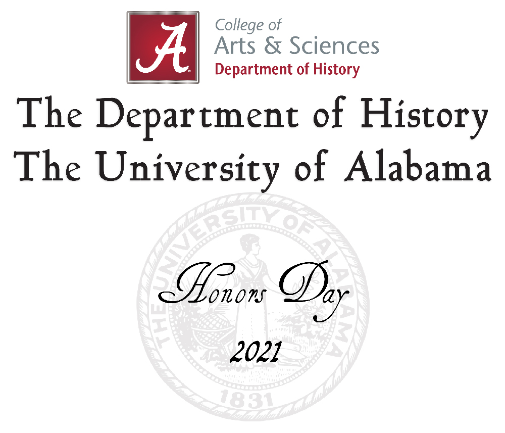 Honor's Day graphic with UA Seal