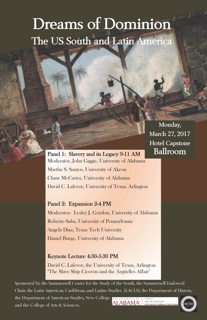 This image is a poster for the event. It shows enslaved peoples working in a factory and includes the same information as this page.