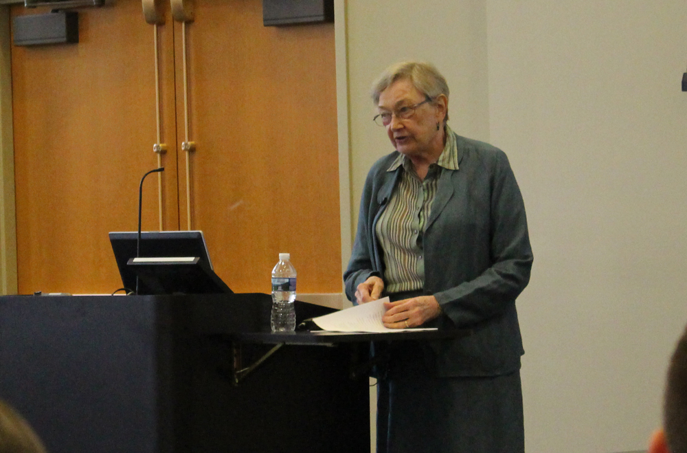 This image shows Dr. Kupperman speaking.
