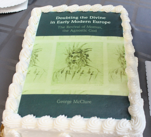 McClure's dust jacket cake.